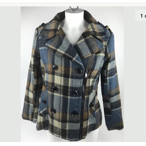 12aa53f914bc Urban Republic Collection Double Breasted Plaid.  M 5b5c4a7ee9ec89118f5c2516. Other Jackets   Coats ...